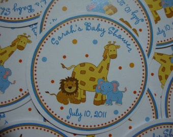 Jungle Baby Favor Tags