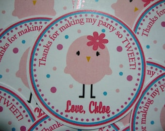 Tweet Little Birdy Favor Tags Perfect for Spring