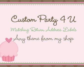 Circle Return Address Labels- ANY THEME from my shop