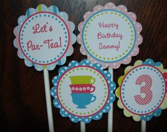 Tea Party (Par-Tea) Cupcake Toppers