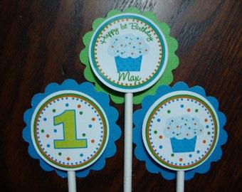 Boy Cupcake- Cupcake Toppers