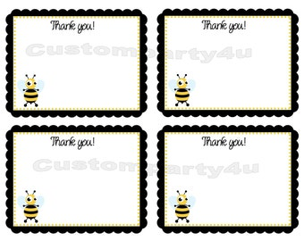 Adorable Bumble Bee Thank You Cards