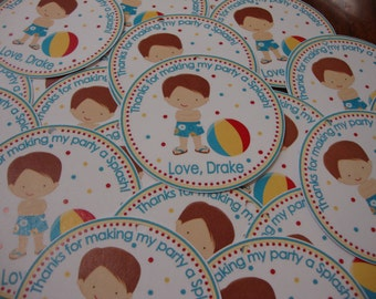 Pool Party Girl or Boy Favor Tags
