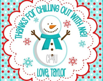 Snowman Winter ONEderland Favor Tags for Boys and Girls