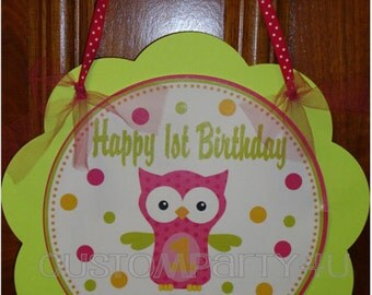 Adorable Owl Custom Door Sign