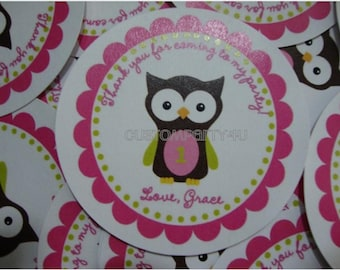 Cute Owl Party Favor Tags