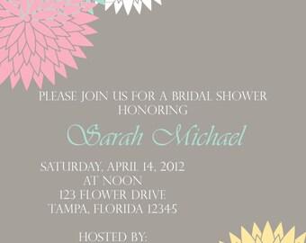 Spring Blossoms Bridal Shower Invitation