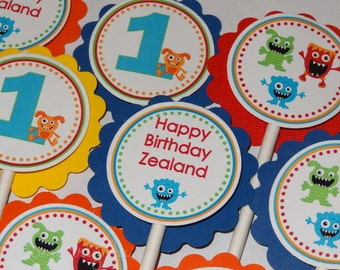 Adorable Monster Cupcake Toppers