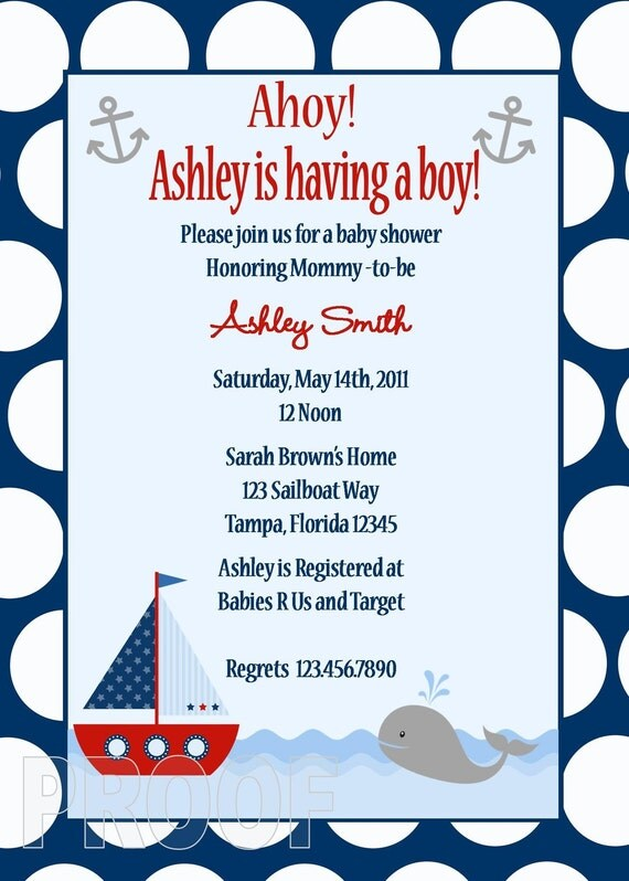 Custom Baby Shower Invitations For Boys is beautiful invitation layout