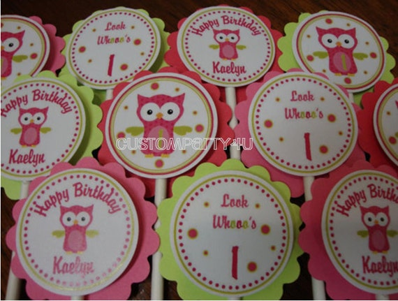 Adorable Owl Cupcake Toppers