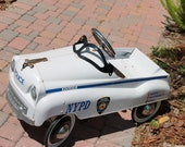 Reduced-1  Vintage New York City Police Car, Push pedal.   Rare model