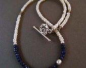 Blue Sapphires and Pearls Necklace