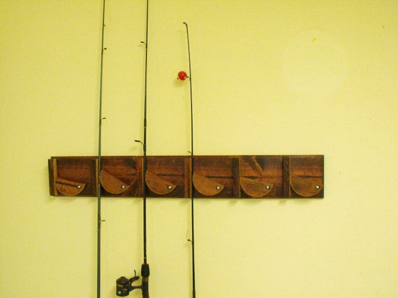 fishing pole holder wall mounted