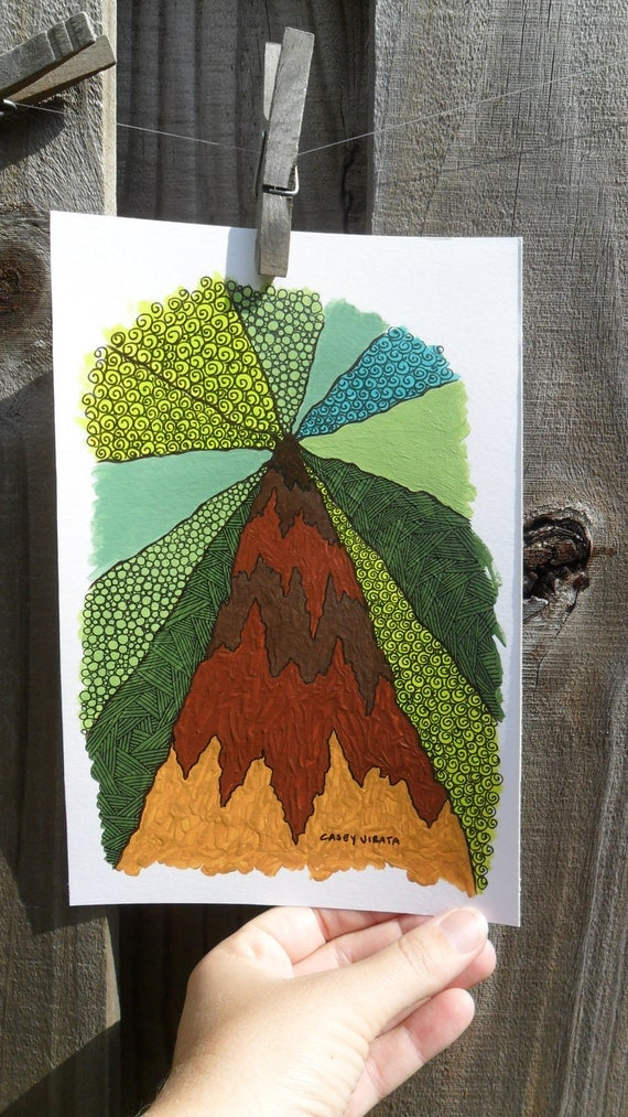 Redwood tree illustration paintingRedwood Tree Painting