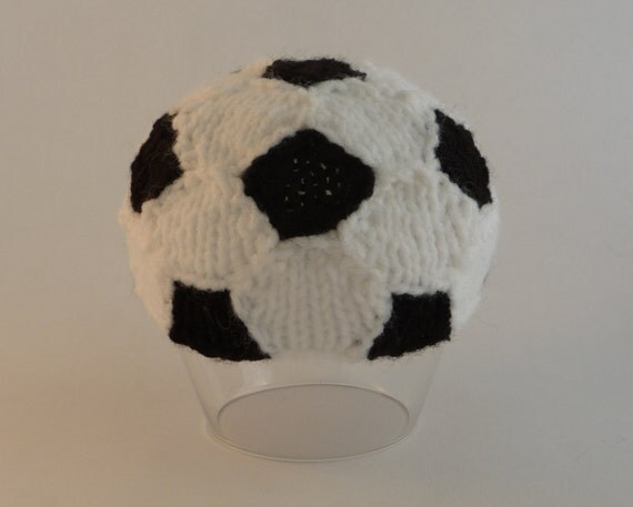 Soccer Ball Knitting Pattern : PATTERN Soccer Ball Newborn Baby Beanie PATTERN