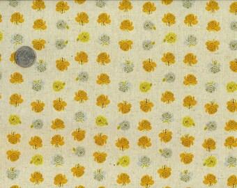 Heather Ross Far Far Away 2 Fabric Cream Flowers 1 yard