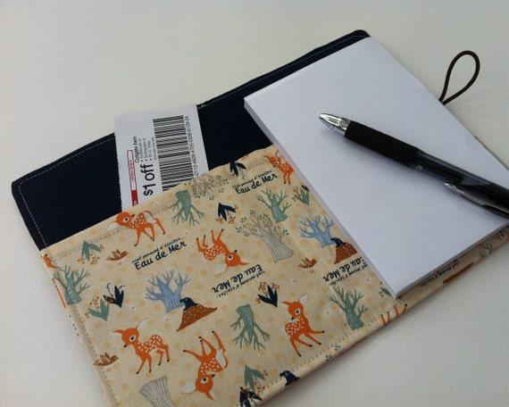 Stylish Jotter (organizer) INCLUDES pen and notepad - Deer Eau de Mer