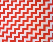 AMAZING Vintage Chevron Orange Red Fabric, 2 yard remnant - substantial enough for home decorating or clothing
