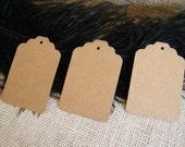 Tags / 100 Large Gift Tags / Escort Cards / Hang Tags / Price tags / Blank / Kraft Cardstock  Eco Friendly DIY Wedding /  Die Cut