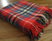 Plaid Stadium Blanket in Red and Blue