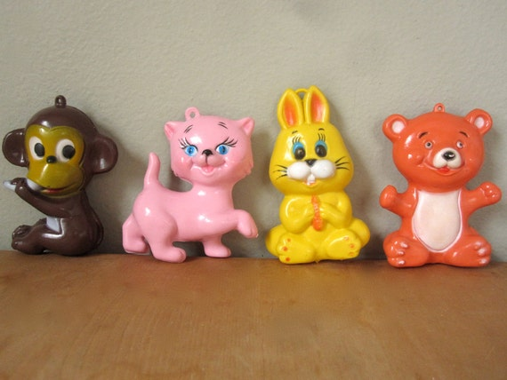 70's Baby Crib Mobile Figures
