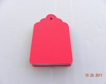 44 Small Red Tags Cards