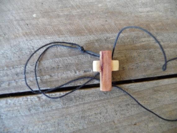 Wooden Cross Pendant