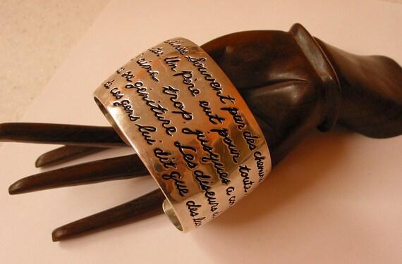 RESERVED RESERVED Vintage LARGE solid sterling silver cuff bracelet by Carolee