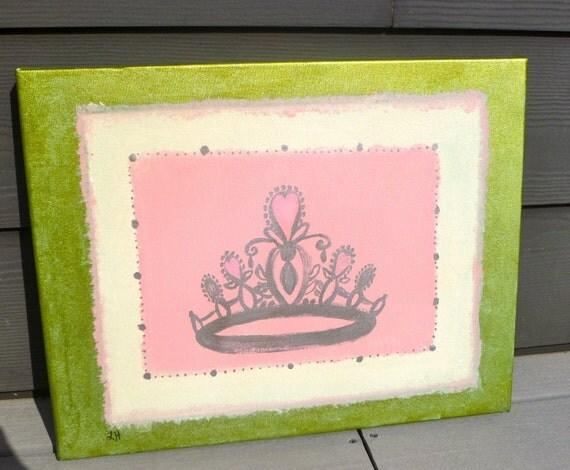 Princess Crown Wall Canvas Custom 16x20