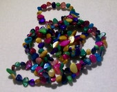 Multicolor Mother of Pearl Nugget Beads 29 inch Strand