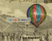 Etsy shop banner premade avatar Hot AIR BALLOON  antique ephemera six piece etsy store front design
