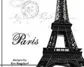 Etsy store banner avatar FRENCH Paris Post Card style 6 piece etsy shop front