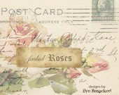 Etsy banner set rose Customized Post card 6 piece etsy store design