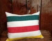 Pendleton Pillow, Camp Blanket, Merino Wool, Glacier Park Striped