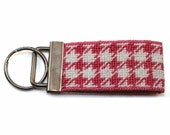 Key Fob in Pink Houndstooth Needlepoint Kit