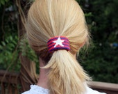 Needlepoint Kit, Ponytail or Barrette Cuff in Stars and Stripes