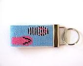 Needlepoint Kit, Flip Flops Key Fob
