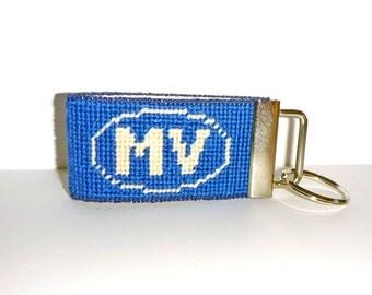 Needlepoint Kit, Key fob with Martha's Vineyard monogram and image