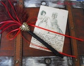 Stylish Feather Wedding Pen for your Guestbook Rustic Renaissance Vintage Inspired Country Chic