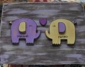 Custom Gift Card Memory Box Baby Shower or Baptism Baby Dedication Elephant Theme Vintage Inspired