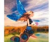 Pond Princess Fairy Greeting Card