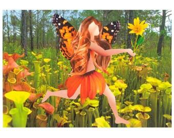 Darling Darlingtonia Fairy Greeting Card