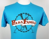 Vintage 1980's Polka Family Band T-Shirt -  Size M