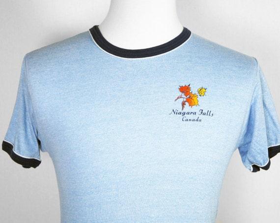 Vintage Niagara Falls, Canada Heather Ringer T-Shirt - Size S / M