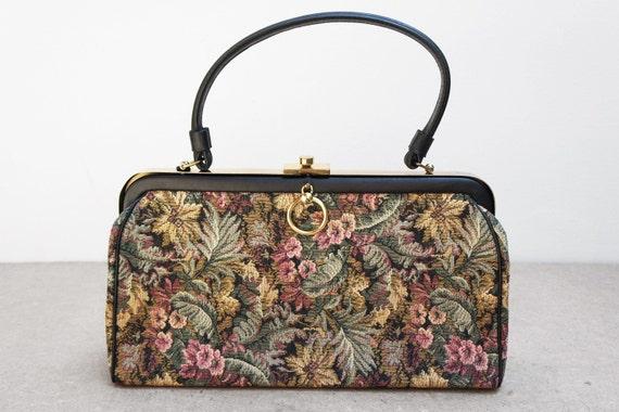 Vintage Verdi Floral Tapestry Handbag