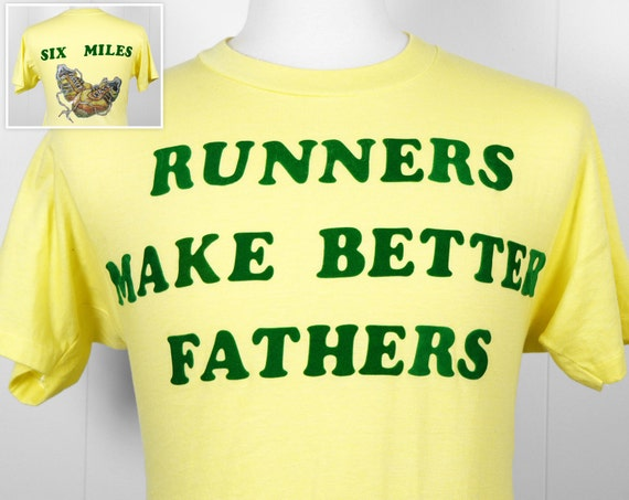 Vintage 1970's Runners Make Better Fathers T-Shirt - Size M