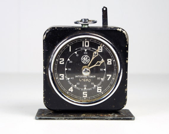 Vintage 1950's General Electric Interval Timer Clock