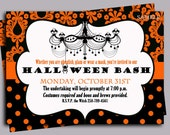 Halloween Invitation Printable or Printed with FREE SHIPPING- ANY Wording - Pretty Posh Halloween Party Collection