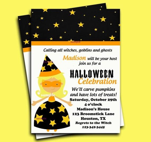 carte invitation halloween en anglais