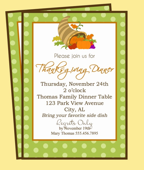 Thanksgiving Dinner Invitation Printable Fruitful Gathering – Thanksgiving Party Invitation Wording